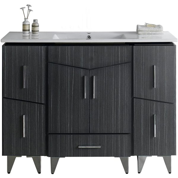 "Zen Vanity Set  - Single Sink - 48"" - Gray"
