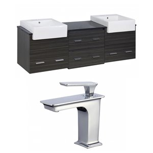 Xena Farmhouse Vanity Set  - Double Sink - 73.5
