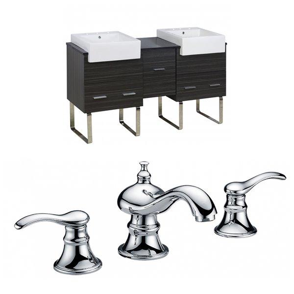 """Xena Farmhouse Vanity Set  - Double Sink - 59.5"""" - Gray"""