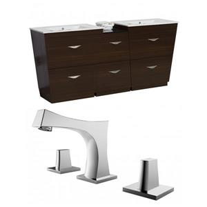 Vee Vanity Set  - Double Sink - 61.5