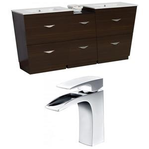 Vee Vanity Set  - Double Sink - 74