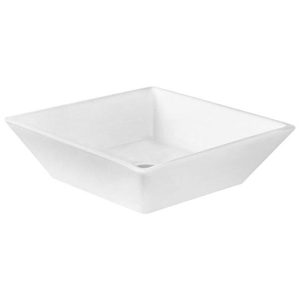 "American Imaginations Xena Quartz Vanity Set  - Double Sink - 48"" - White"