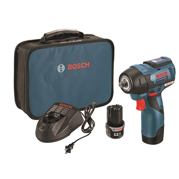 Bosch Brushless Impact Wrench Kit 12 V 3 8 Ps82 02 Rona