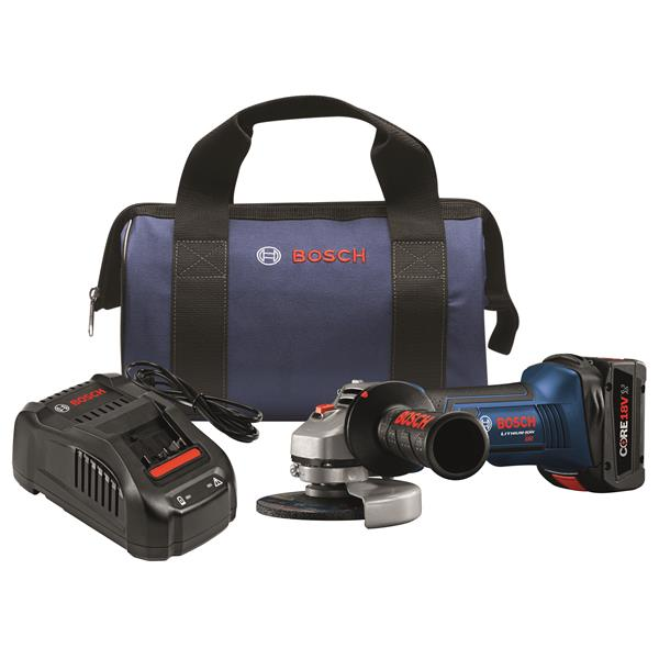 Bosch Angle Grinder Kit, CORE 18V Battery