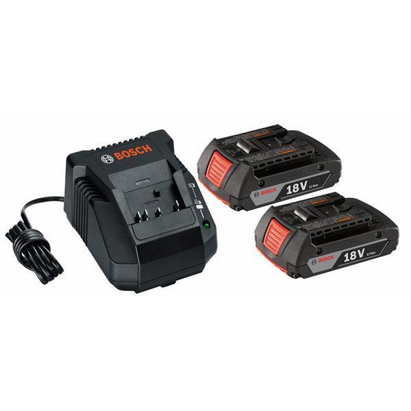 Ensemble de batterie Li-Ion et chargeur, 18 volts, 3 pièces
