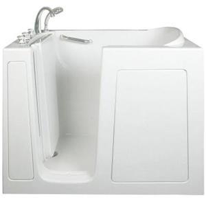 """Baignoire de plain-pied Aquam, 48"""" x 28"""", blanc"""