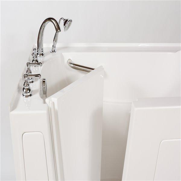 Aquam Spas Walk-in Left Hand Tub - 60-in x 32-in - White