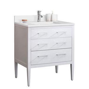 Meuble-lavabo avec comptoir en quartz Sydney, 31