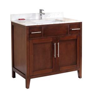 Meuble-lavabo avec comptoir en quartz Linden, 37
