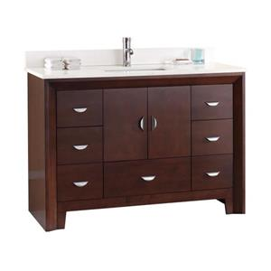 Meuble-lavabo avec comptoir en quartz Kodo, 49