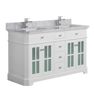 Heritage Vanity with Marble Countertop - 60