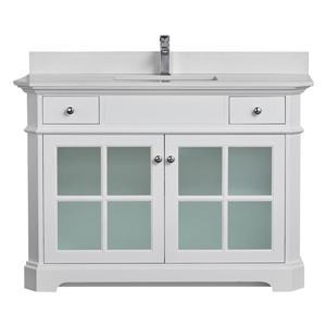 Heritage Vanity with Quartz Countertop - 48