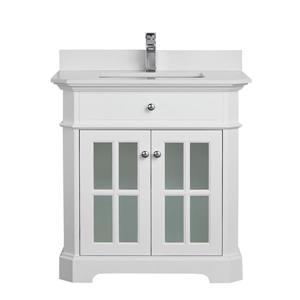 Meuble-lavabo avec comptoir en quartz Heritage, 32