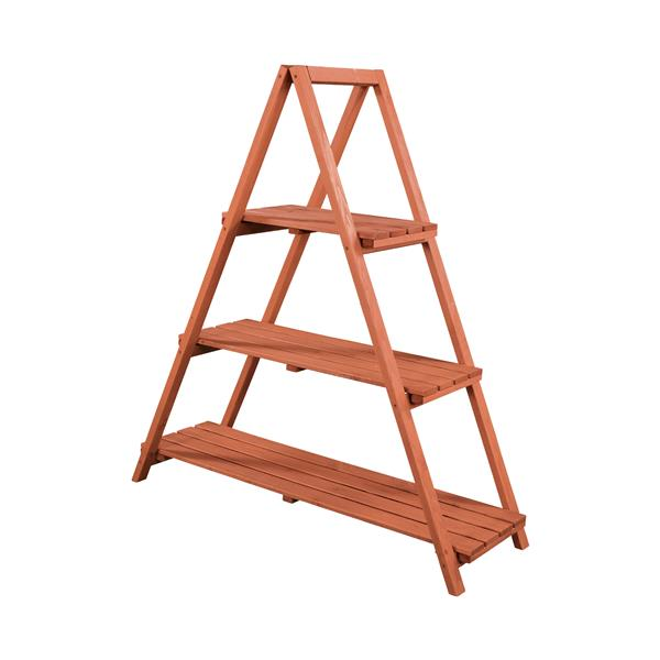 Wooden Ladder Plant Stand - Indoor/Outddor