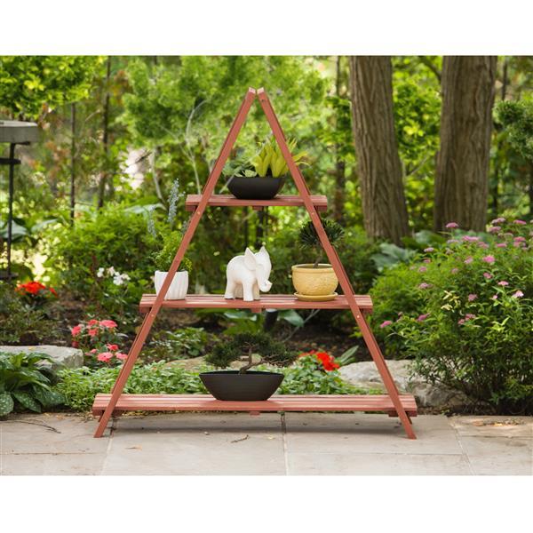Support plante en bois à échelle, Intérieur/extérieur
