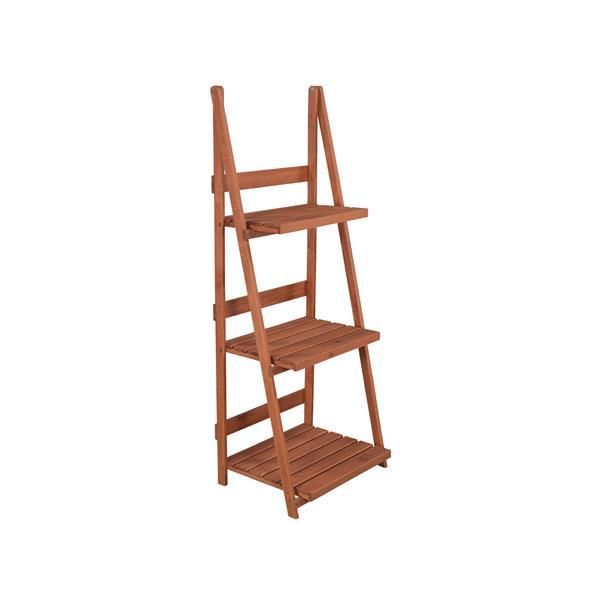"""Support pour plante à 3 niveaux en bois, 24"""" x 18"""" x 60"""""""