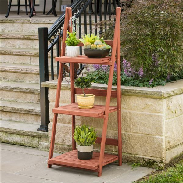 """3-Tier A-frame Wooden Plant Stand - 24"""" x 18"""" x 60"""""""