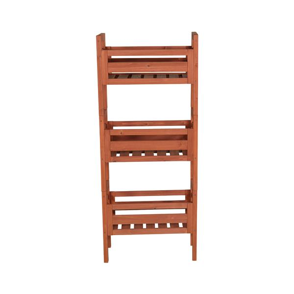 "Wooden Stacking Plant Stand - 20""W x 9""D x 48""H"
