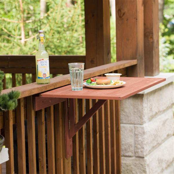 Table à abattants murale en bois, 35'' x 22'' x 27''