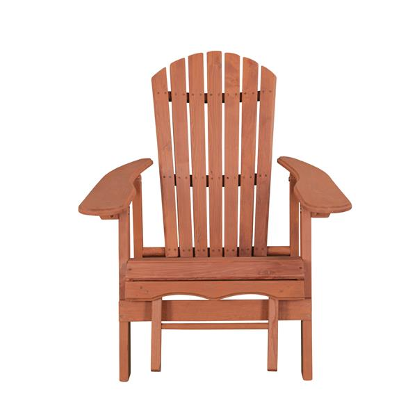 Reclining Adirondack Chair With Pull-Out Ottoman