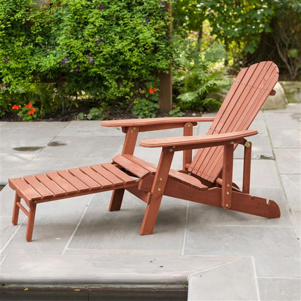 Chaise inclinable Adirondack avec repose-pieds