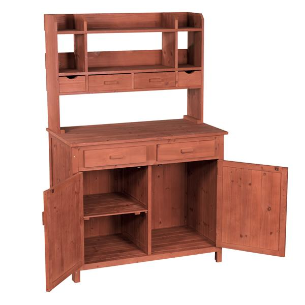 "Potting Bench With Storage - 42""L x 24"" D x 67'' H"