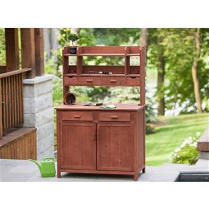 Leisure Season Potting Bench With Storage - 42-inL x 24-in D x 67-in H