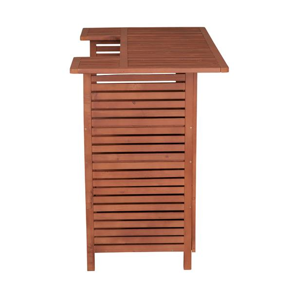 Outdoor Wooden Bar with Storage