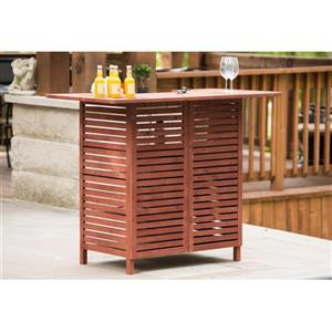Leisure Season Outdoor Wooden Bar with Storage