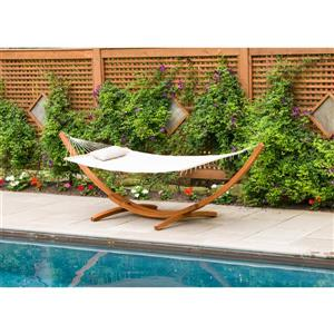 Leisure Season Hammock Stand with Hammock - 126'' x 47'' x 47''