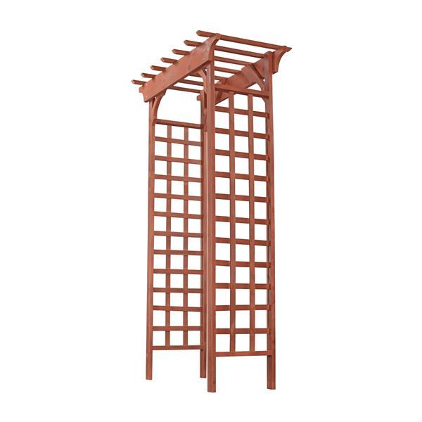 Tonnelle en bois avec trellis, 26'' x 49'' x 83''