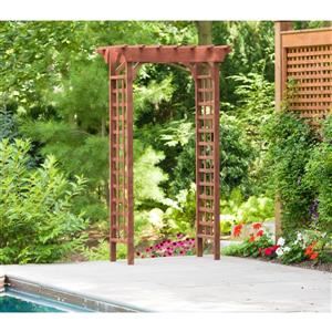 Leisure Season Wooden Arbour with Lattice - 26'' x 49'' x 83''