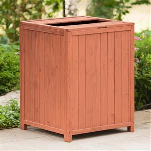 """Conteneur à déchets pour patio en bois, 26 L x 26 P x 34"""" H"""