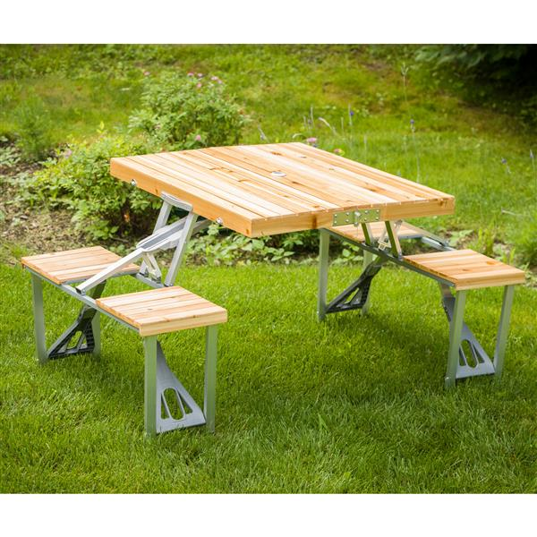 Wondrous Leisure Season Portable Folding Picnic Table 33 X 28 X 26 Forskolin Free Trial Chair Design Images Forskolin Free Trialorg