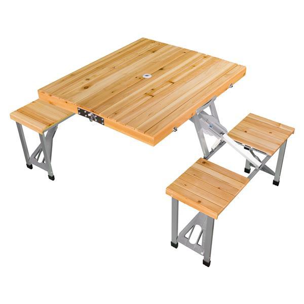 Table de pique-nique pliable portative, 33'' x 28'' x 26''