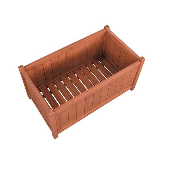 Jardinière rectangulaire en bois, 32'' x 18'' x 16''