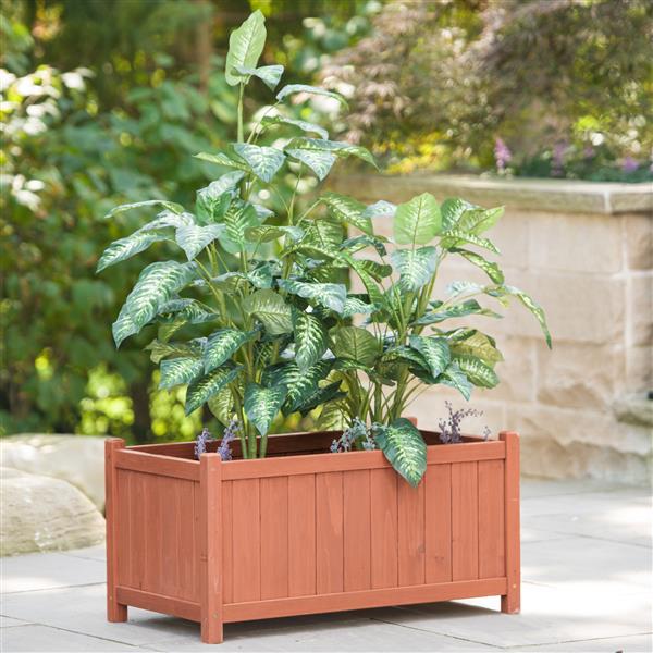 Leisure Season Rectangular Wooden Planter Box - 32'' x 18'' x 16''