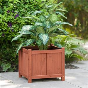 Leisure Season Square Wooden Planter Box - 18'' x 18'' x 16''