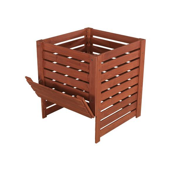 Bac à composter en bois, 27'' x 27'' x 30''