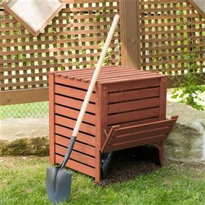 Leisure Season Wooden Compost Bin - 27'' x 27'' x 30''