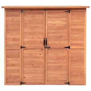 Leisure Season Extra-large outdoor storage shed - Cedar