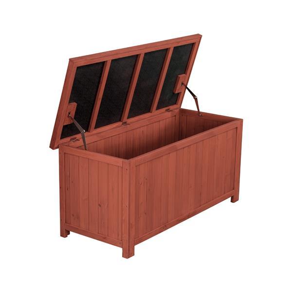 Boîte de rangement en bois, 50'' x 22'' x 24''