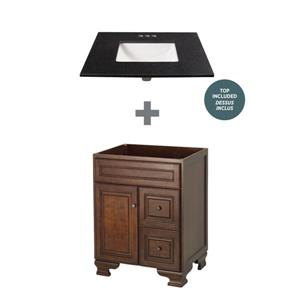 "Foremost Hawthorne Vanity Combo - 25"" x 34.75"" - Black"