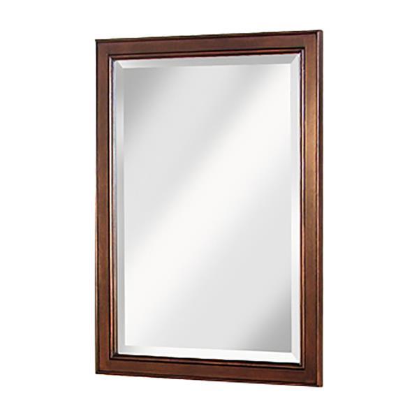 """Foremost Hawthorne Mirror - 24"""" x 15"""" - Wood - Walnut"""