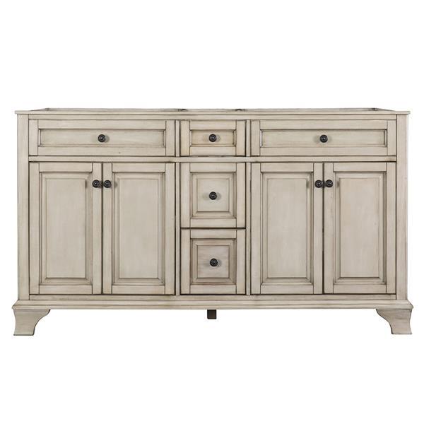 "Ensemble meuble-lavabo Corsicana, 60"" x 34,75"", granit, gris"
