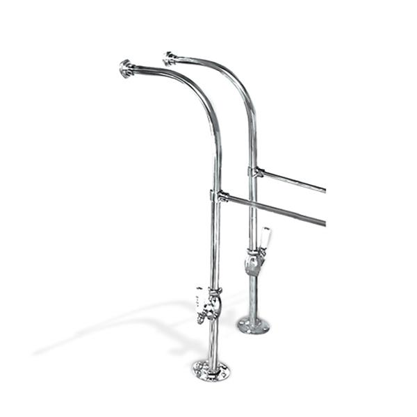 Chrome Over the Tub Supply Lines, Decorative Shut-offs