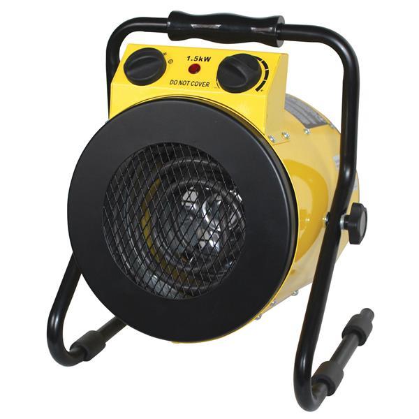 """Chauffage électrique portatif, 11,2"""" x 13,4"""", jaune"""