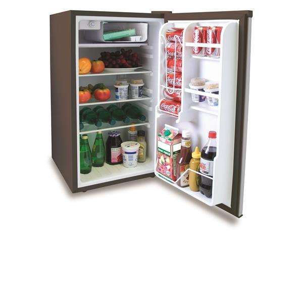 """Compact Refrigerator - 19"""" x 33"""" - Stainless Steel"""