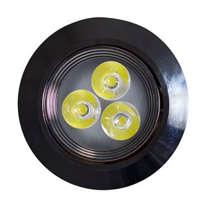 "Pot lumineux, 3,8"", chrome"