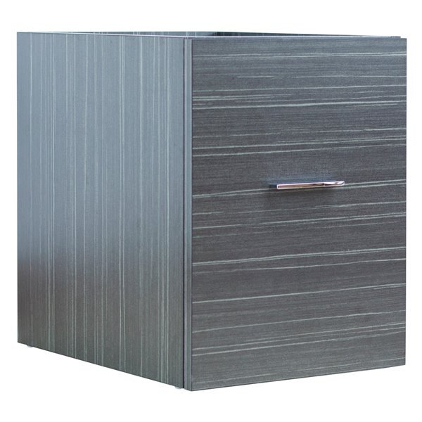 "American Imaginations Xena Modular Drawer - 14"" x 17.8"" - Wood - Gray"